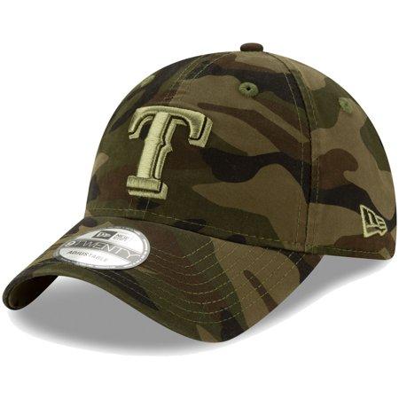 Texas Rangers New Era Tonal Camo Core Classic 9TWENTY Adjustable Hat - Camo - OSFA