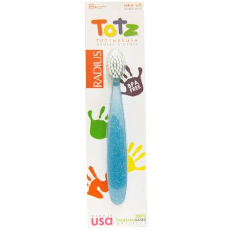 Radius Totz Toothbrush 18 + Months Extra Soft Blue Sparkle