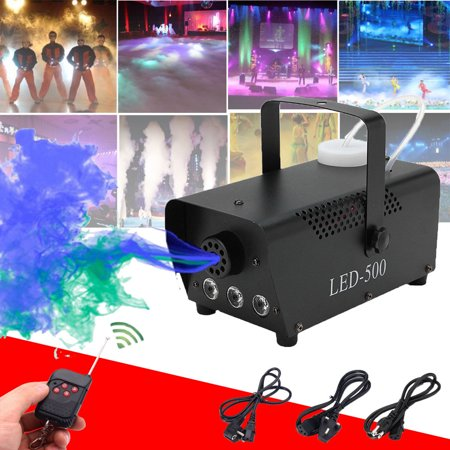 Lv. life 500W RGB LED Fog Machine Remote Control Stage Fogger Smoke Maker Kit US Plug, RGB Fog Machine, RGB Fogger