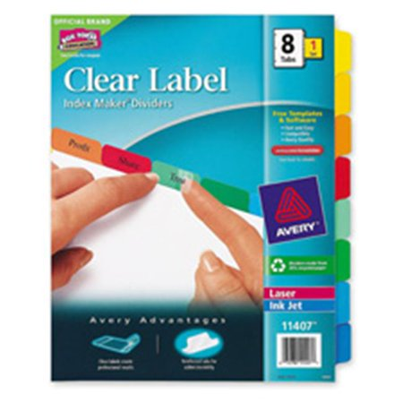 Avery Consumer Products AVE11406 Index Maker- Laser-Inkjet- 5 Tab- 1 Set- Multicolor