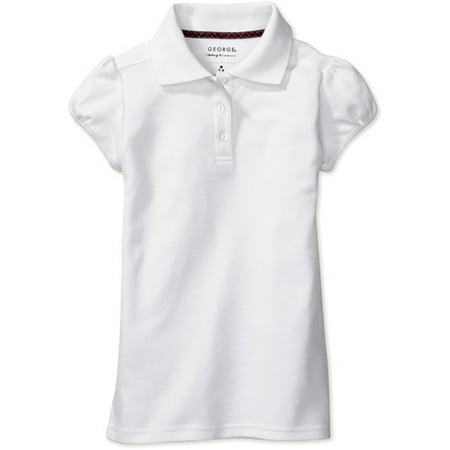 George girls 39 short sleeve polo shirt for Polo shirt girl addiction