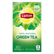 (4 Boxes) Lipton Green Tea Bags Pure 20 ct