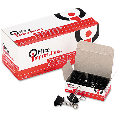 Office Impressions Binder Clips, Small, 12 boxes