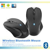 AGPtek Wireless Bluetooth Mouse Optical 2400 DPI for Mac Macbook PC Laptop Android