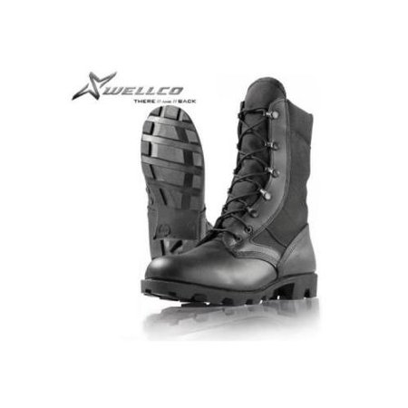 Boots, Wellco HW Jungle, Panama Sole, B930, Black, Size 3W