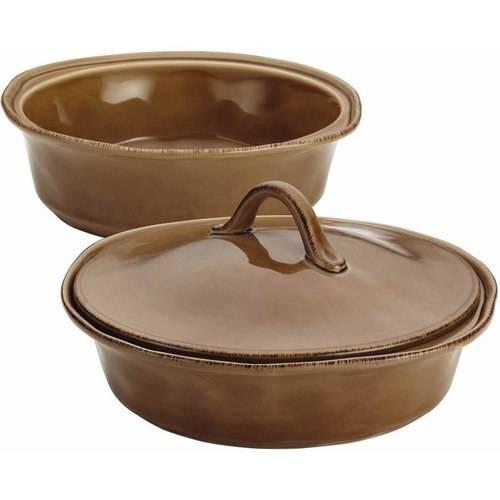 rachael ray cucina 3-pc. round baker & lid set