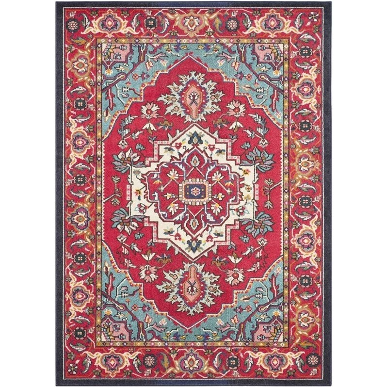 "Hawthorne Collections Red Contemporary Rug - 6'7"" x 9'2"" - image 1 of 1"