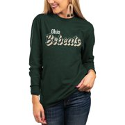 Ohio Bobcats Women's Home Team Elbow Patch Tri-Blend T-Shirt - Green