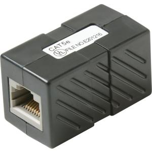 CAT5E IN LINE COUPLER BLACK