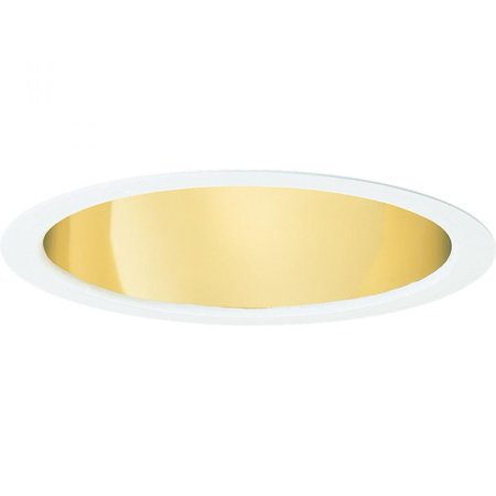 Progress P8130-22A Cone Trim Gold Alzak Recessed Lighting Trim, Gold Alzak