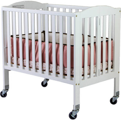 Dream On Me 2-in-1 Folding Birch Portable Crib, Choose Your Finish by Dream On Me