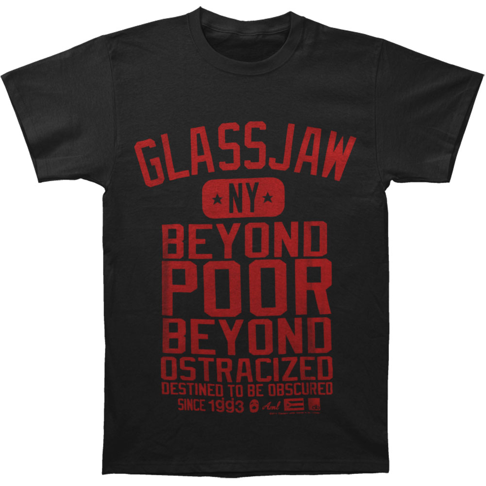 Glassjaw Men's  Supplying On Black T-shirt Black