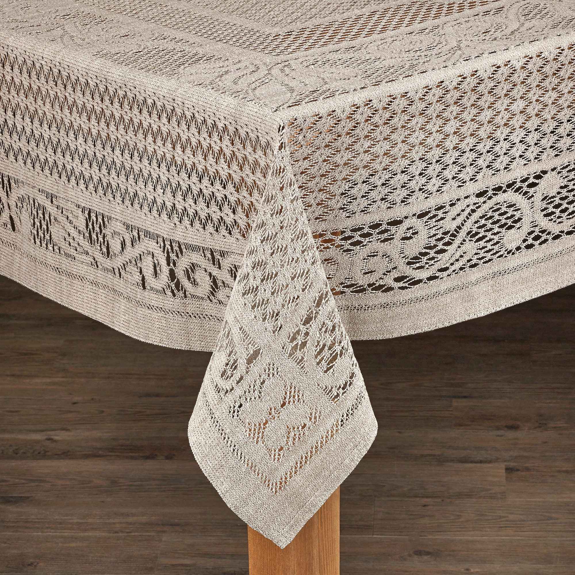 Lintex Linens Chantilly Crochet Cotton Tablecloth Imported from Spain by Overstock