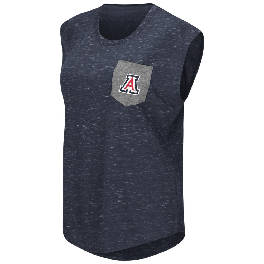 Arizona Wildcats Ladies Pocket Tee Heathered Vintage T-Shirt