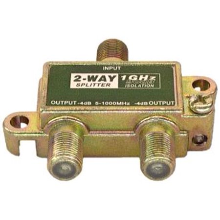 IEC ACC9000 2-Way 1GHz 90db Signal Splitter for Television or (Signal Splitter)