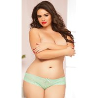 Plus Size Lace-up Back Panty, Plus Size Sexy Lacey Underwear