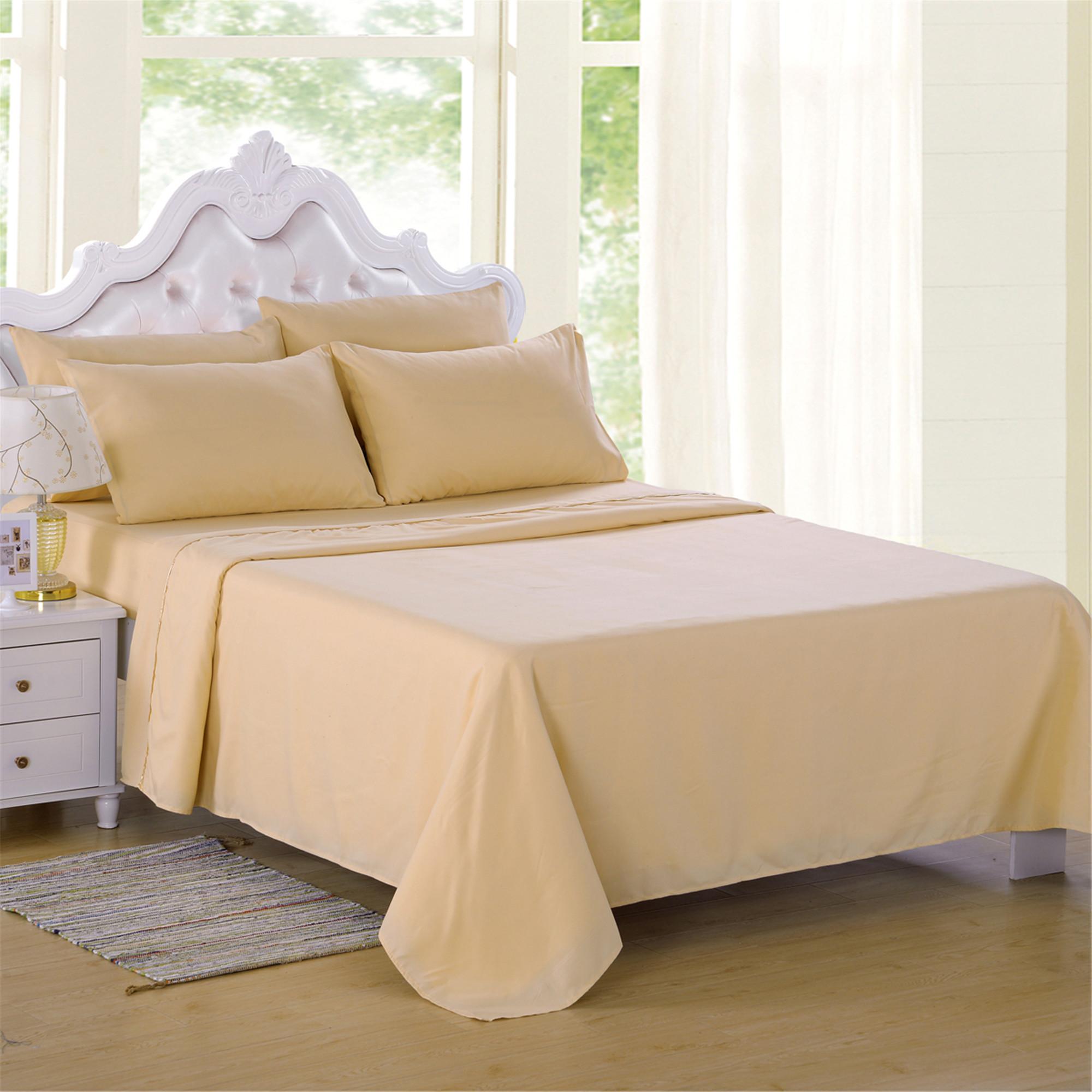 Soft Microfiber 3000TC 6 Piece Bed Sheet Set Deep Pocket For Queen Bed ,Wrinkle & Fade Resistant Solid Burgundy