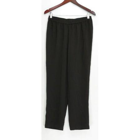 Linea by Louis Dell'Olio Women's Petite Pants PS Gauze Crepe Knit Black A302680