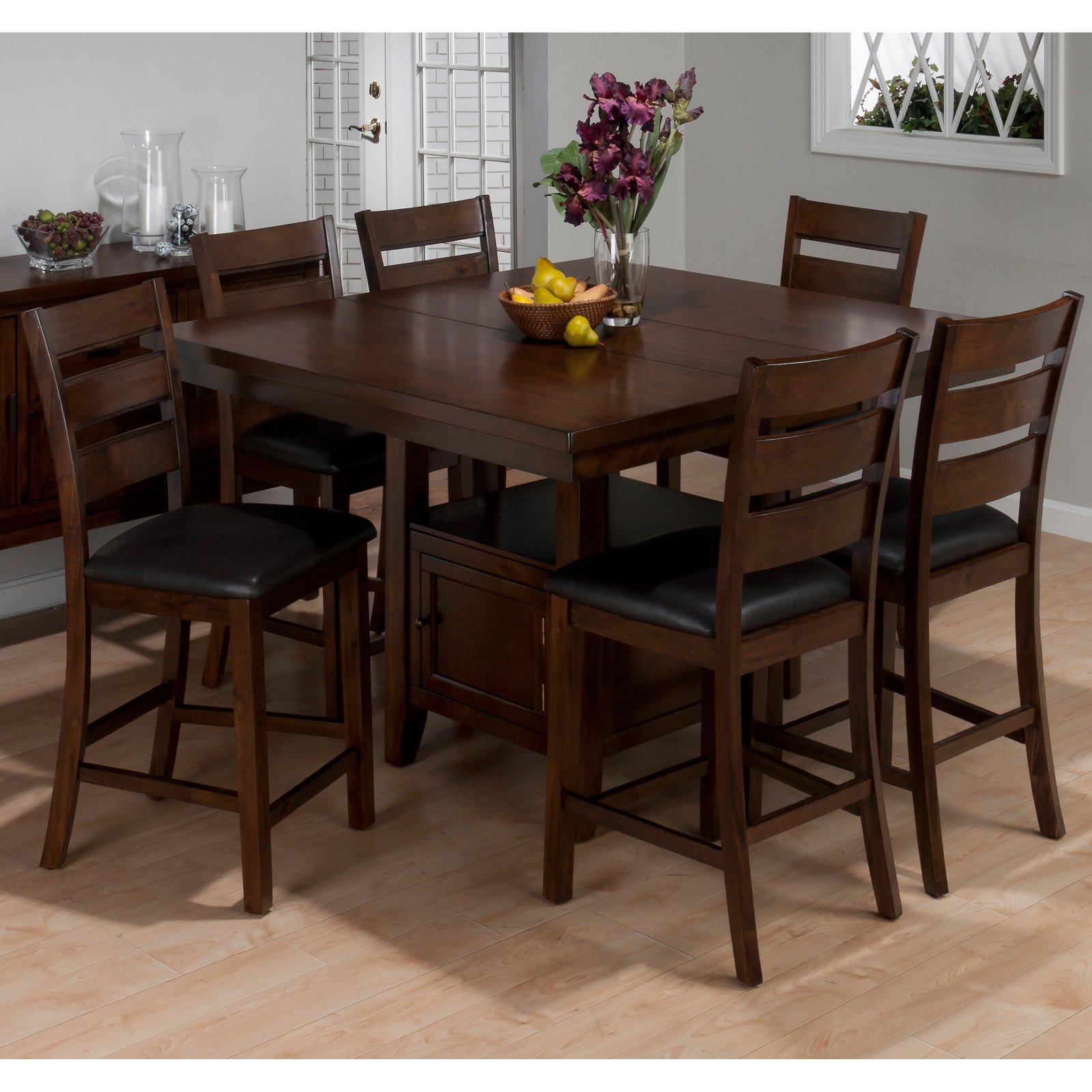 Beau Jofran Taylor Cherry 7 Piece Counter Height Dining Table Set