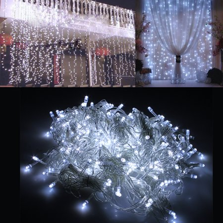 Image 118   X 118   300Led Curtain Lights String Light For Christmas Party Decoration White