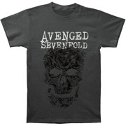 Avenged Sevenfold Men's  Grey Skull T-shirt Charcoal