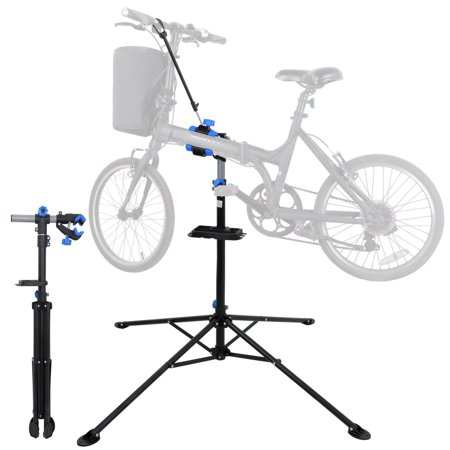 Pro Elite Bike Repair Stand - Zeny Pro Mechanic Bike Repair Stand 360 Degree Rotate Adjustable Height Bicycle Maintenance Rack Workstand With Tool Tray, Telescopic Arm Cycle