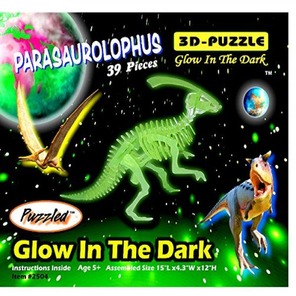 Puzzled Glow In The Dark 3D Jigsaw Parasaurolophus Puzzle