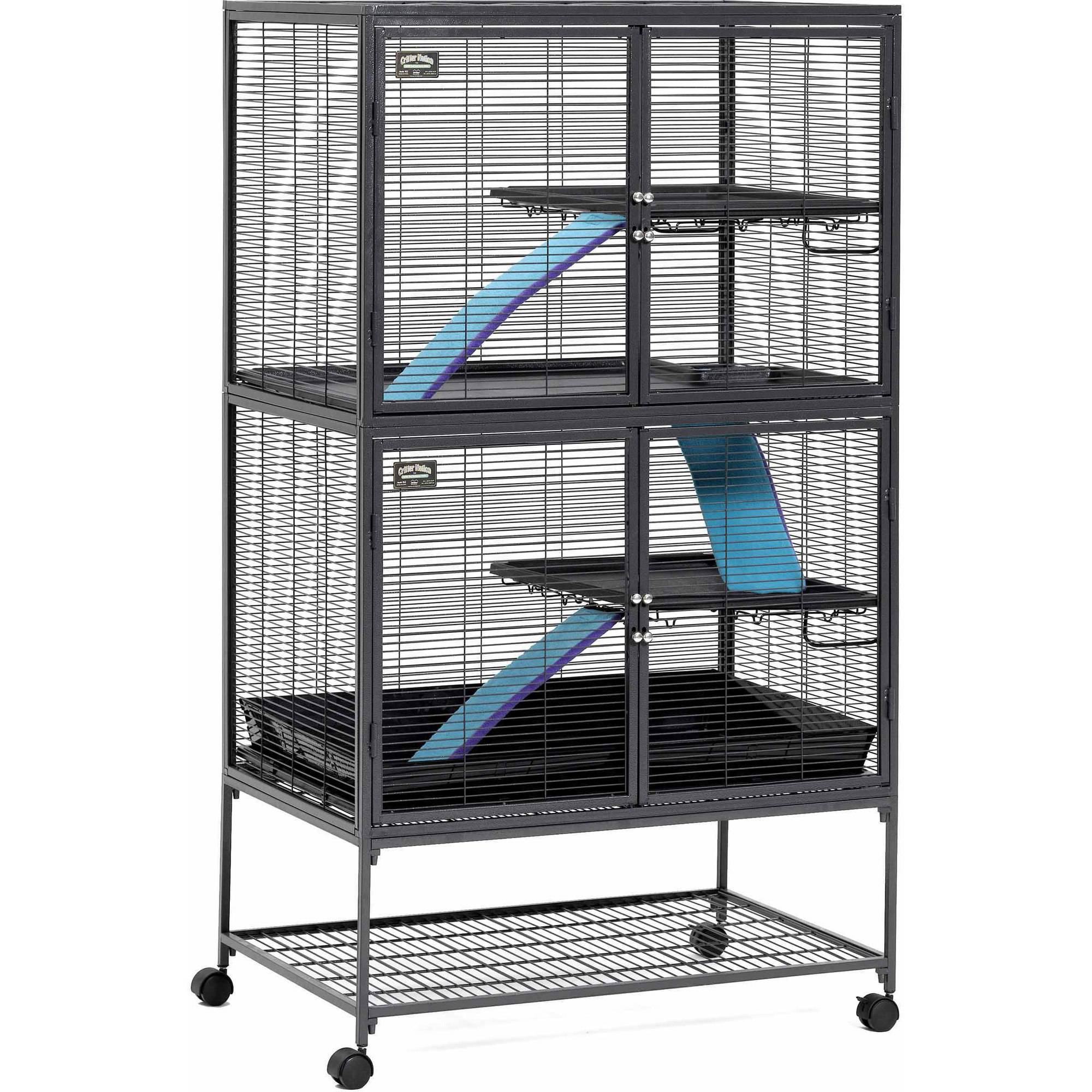 "MidWest Deluxe Critter Nation Double Unit Small Animal Cage (Model 162)36""L x 25""W x 62.5""H"