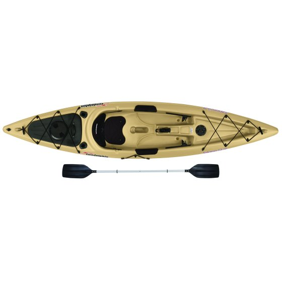 Sun Dolphin Journey 12' Sit-on Fishing Kayak, Paddle Included