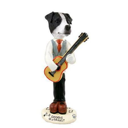 Jack Russell Terrier Black&White w/Smooth Coat Guitarist Doogie