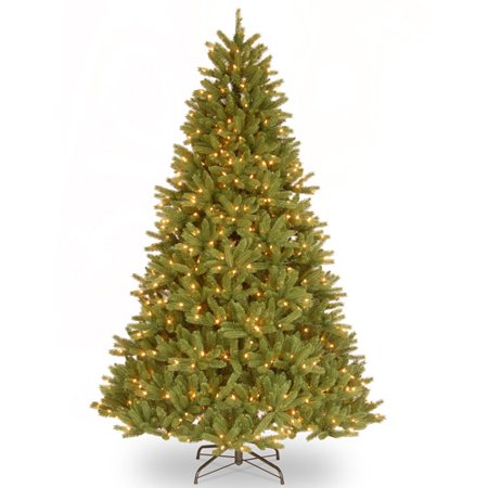National Tree Pre Lit 9  Feel Real  Grande Fir Medium Hinged Artificial Christmas Tree With 900 Clear Lights