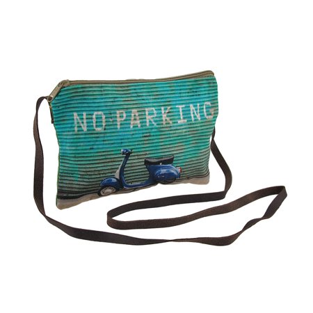 No Parking Scooter Blue And Green Cross Body -