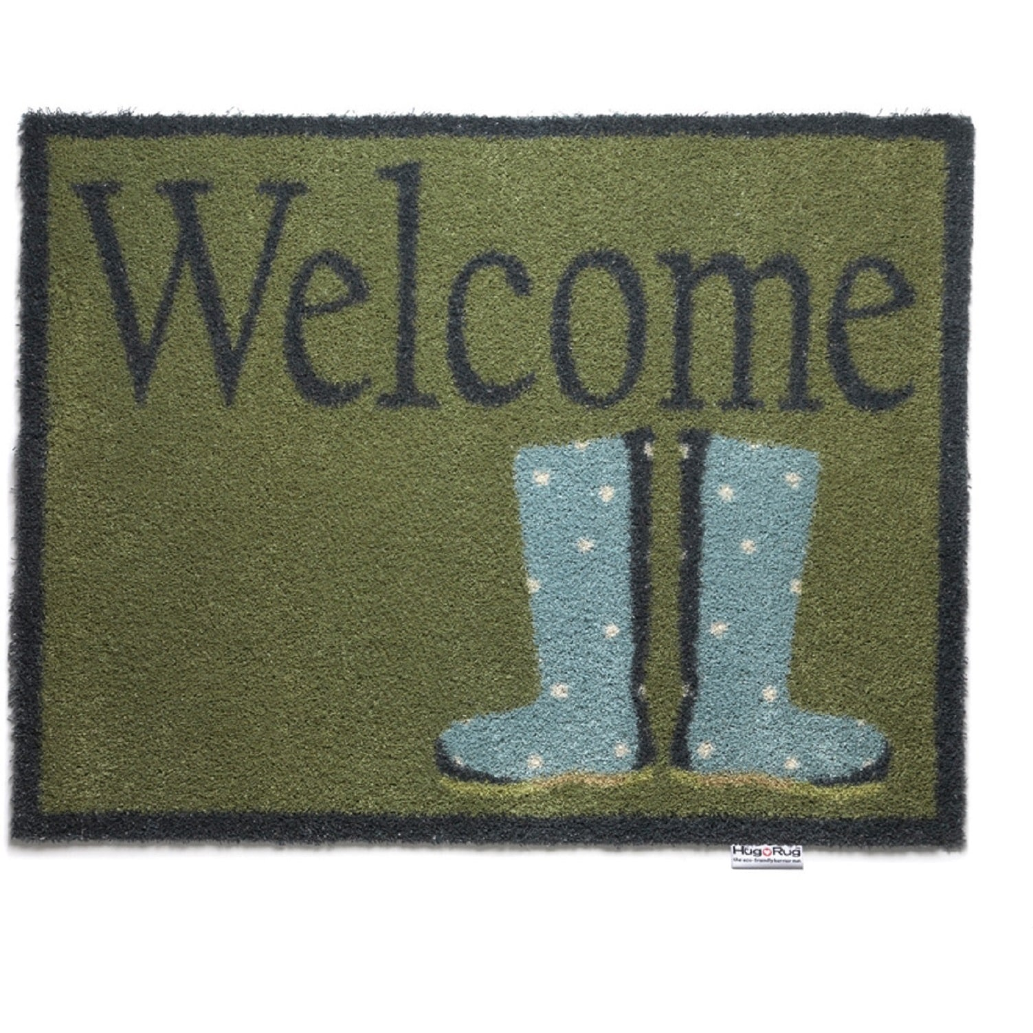 Bosmere  Eco-Friendly Dirt Trapper Wellie Boots Washable Accent Rug (2'1.5 x 2'9.5)