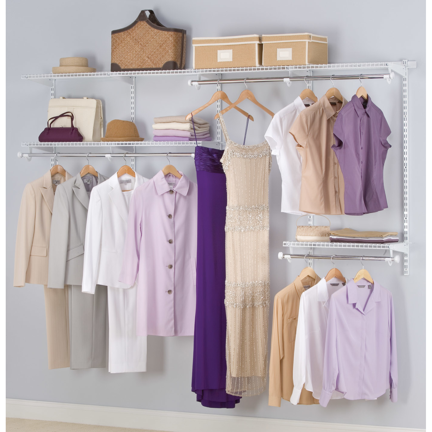 Rubbermaid FG3G5902WHT Configurations™ Closet Kit White