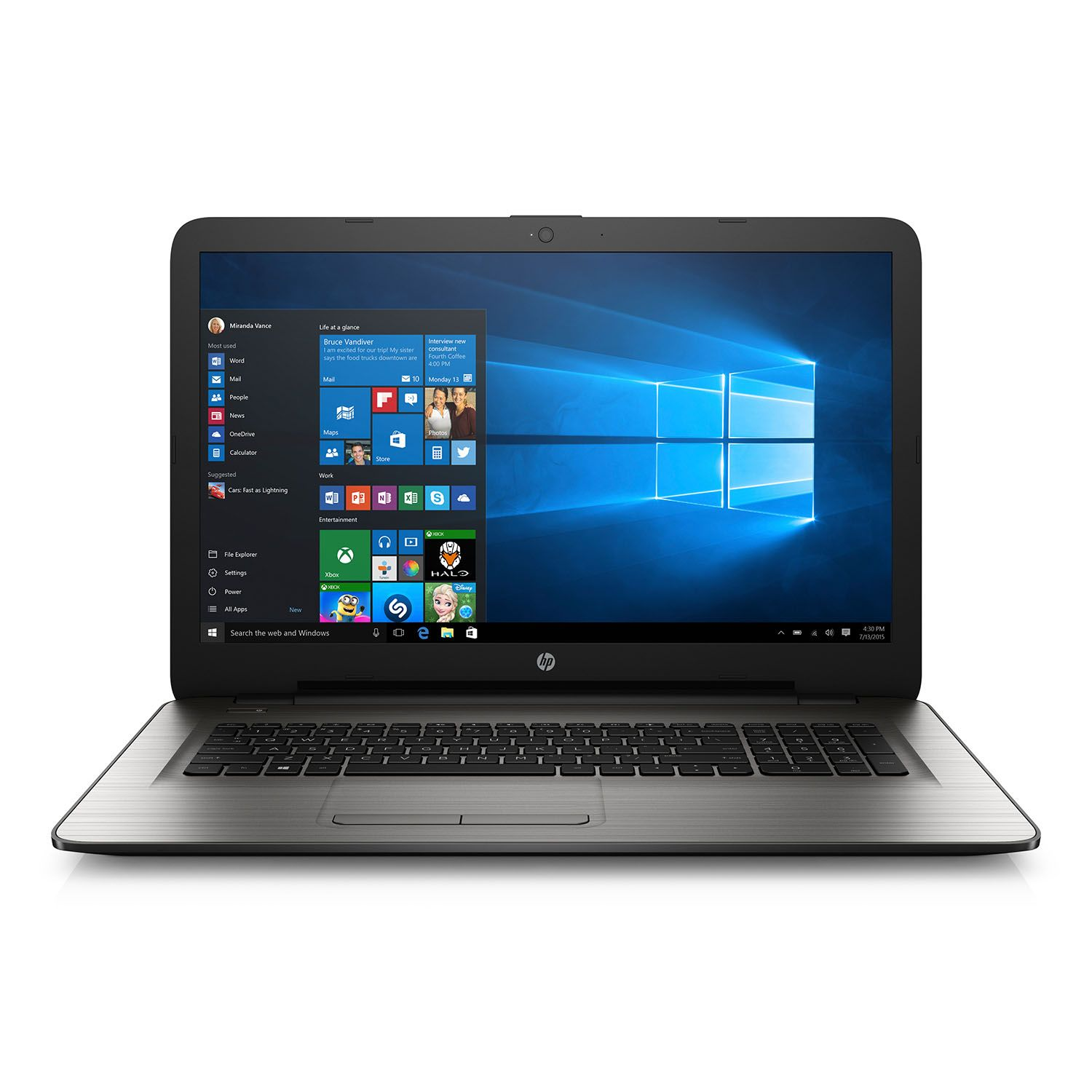 "HP HD 17.3"" Notebook 17-x037cl, Intel i3-5005U, 8GB RAM, ..."