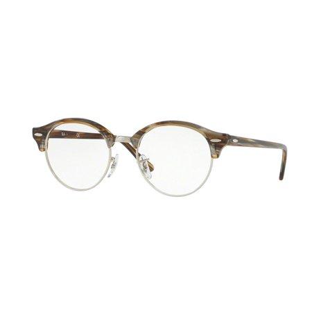 0a32e42880 Eyeglasses Ray-Ban Optical RX 4246 V 5749 BROWN GREY STRIPPED - Walmart.com