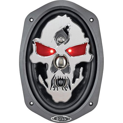 """Boss Audio SK694 Phantom Skull 6"""" x 9"""" 4-Way, Car Speakers (Pair of Speakers)"""
