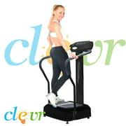 NEW Black Crazy Fit Vibration Massage Machine Plate Platform Massage Fitness