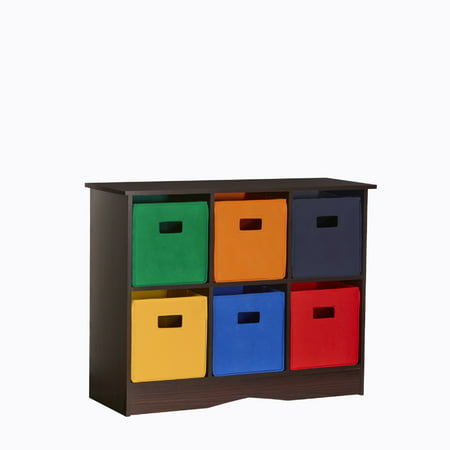 RiverRidge Kids 6 Bin Storage Cabinet - Espresso/Primary](Kids Online Stores)