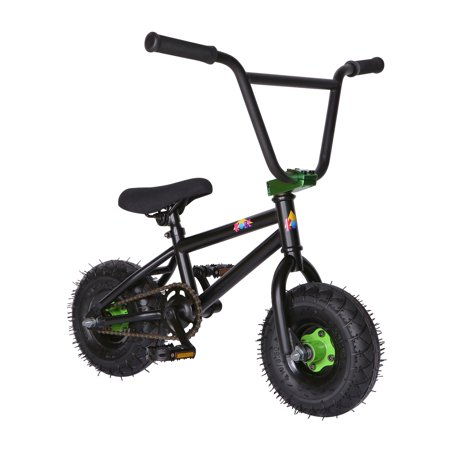 "KOBE Mini BMX Trick Bike - Off-Road to Skate Park, Freestyle, Trick, Stunt Bicycle 10"" Wheels for Adults and Kids - Green - image 9 de 12"