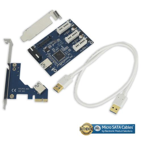 PCI-E Express 3 Port 1X Multiplier Riser Card