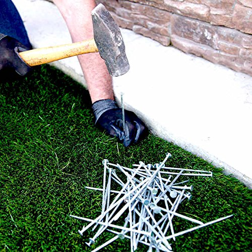"""USA MADE Synthetic Grass & Landscape, 5.5"""" Stakes, 5-lbs Spikes for Securing Artificial Turf Products (AN AVERAGE OF 25% MORE NAILS!) Approximately 150 Nails Per Bag"""