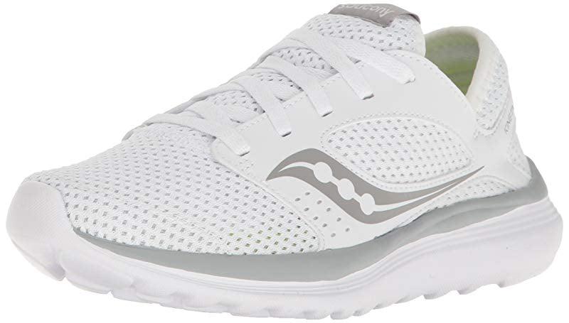 Saucony Women's Kineta Relay Running Shoe, White Grey, 8 M US by