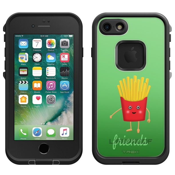Skin Decal For Lifeproof Apple Iphone 7 Case Best Friends Burger And Fries Fries Walmart Com Walmart Com