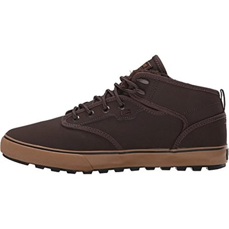 Globe Mens Motley Mid Suede Faux Fur Lined Skateboarding Shoes