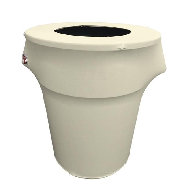 SpandexCover44G-IvoryX25 Stretch Spandex Trash Can Cover 44 gal Round, Ivory - image 1 de 1