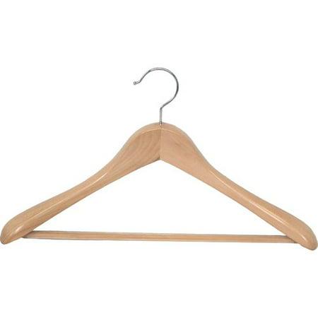 Proman Taurus Wide Shoulder Heavy Coat/Suit Hanger with Bar - 12 Pieces