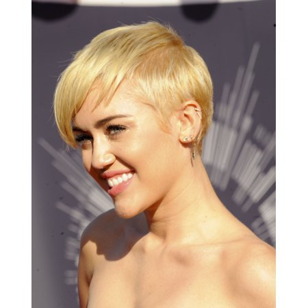 Miley Cyrus At Arrivals For Mtv Video Music Awards  Vma  2014 Rolled Canvas Art     8 X 10