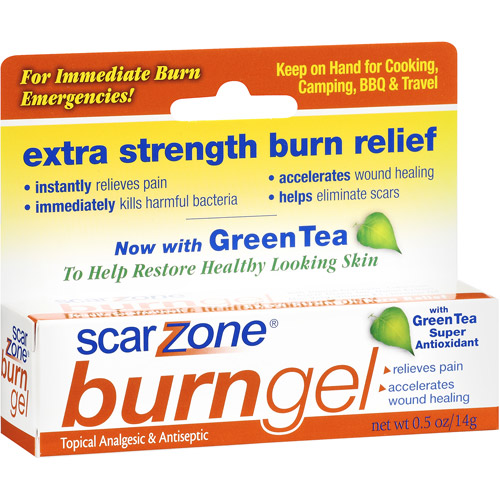 Scar Zone Burn Gel Topical Analgesic & Antiseptic, 0.5 oz