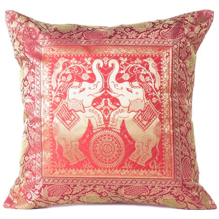 Terrific Indian Elephant Brocade Throw Sofa Boho Couch Cushion Bohemian Pillow Cover Set Of 2 16 Pdpeps Interior Chair Design Pdpepsorg